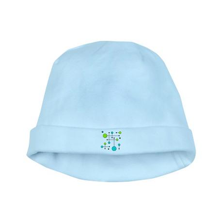 Lime & Teal Dot Dash baby hat