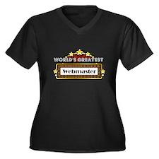 World's Greatest Webmaster Women's Plus Size V-Nec