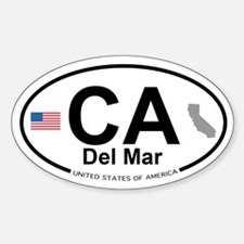 Del Mar Sticker (Oval)