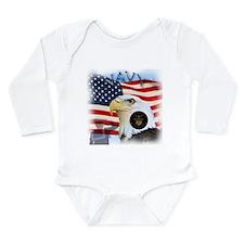 NAVY Long Sleeve Infant Bodysuit