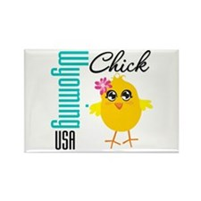 Wyoming Chick Rectangle Magnet