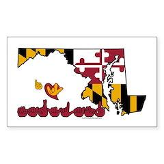 ILY Maryland Sticker (Rectangle)