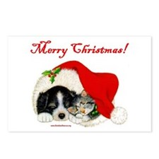 Christmas Puppy & Kitten Postcards (Package of 8)