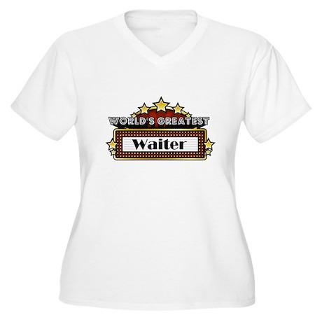 World's Greatest Waiter Women's Plus Size V-Neck T