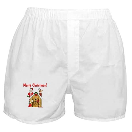 Santa & Dog House Boxer Shorts