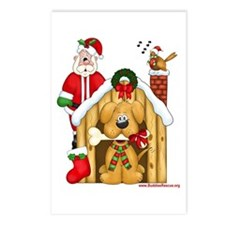 Santa & Dog House Postcards (Package of 8)
