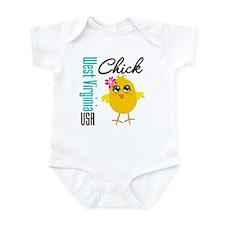 West Virginia Chick Infant Bodysuit