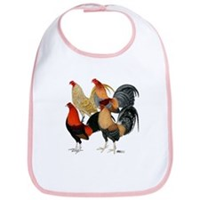 Four Gamecocks Bib