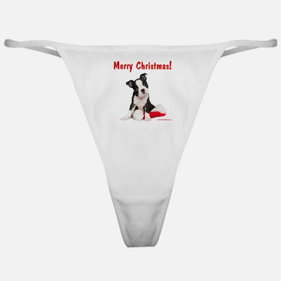 Christmas Puppy Classic Thong