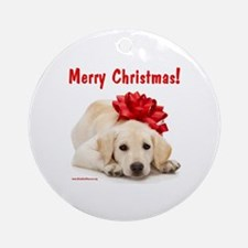 Christmas Lab Puppy Ornament (Round)