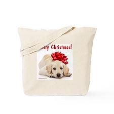Christmas Lab Puppy Tote Bag