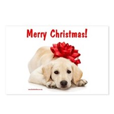 Christmas Lab Puppy Postcards (Package of 8)