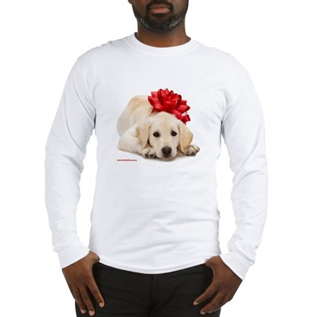 Christmas Lab Puppy Long Sleeve T-Shirt