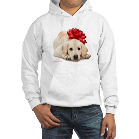 Christmas Lab Puppy Hooded Sweatshirt