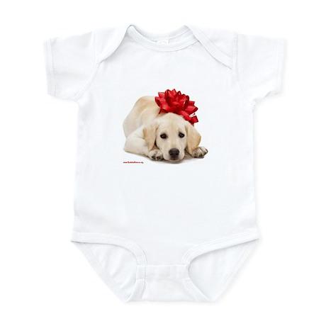 Christmas Lab Puppy Infant Bodysuit