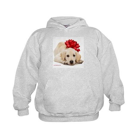 Christmas Lab Puppy Kids Hoodie