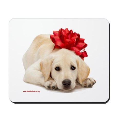 Christmas Lab Puppy Mousepad
