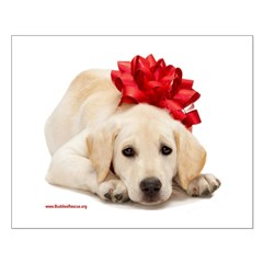 Christmas Lab Puppy Posters