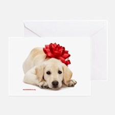 Christmas Lab Puppy Greeting Card