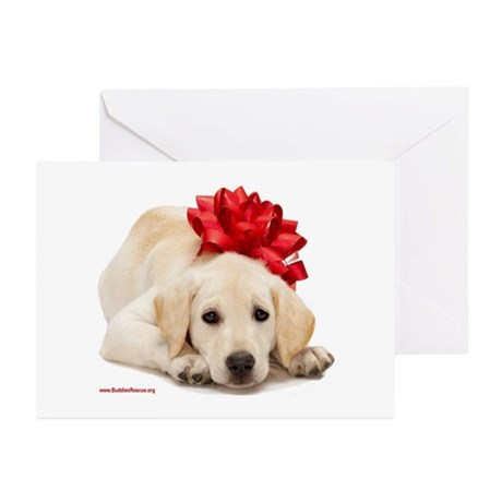 Christmas Lab Puppy Greeting Cards (Pk of 20)