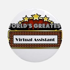 World's Greatest Virtual Assi Ornament (Round)