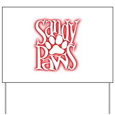 Sandy Paws Yard Sign