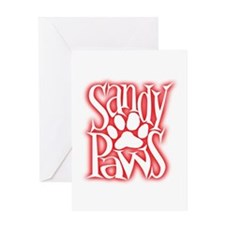 Sandy Paws Greeting Card