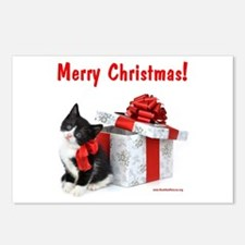 Christmas Kitten Postcards (Package of 8)