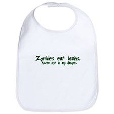 Zombies Eat Brains Bib