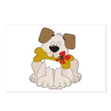 Christmas Dog w/Bone Postcards (Package of 8)