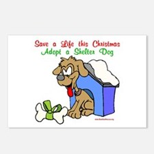 Christmas Dog House Postcards (Package of 8)