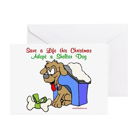 Christmas Dog House Greeting Cards (Pk of 10)