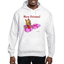 Christmas Dog in Box Hoodie