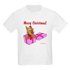 Christmas Dog in Box T-Shirt