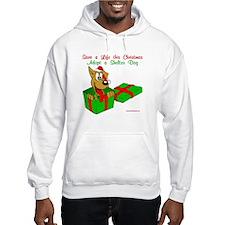 Dog w/ Santa Hat Gift Hoodie
