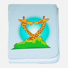 Giraffe Love baby blanket