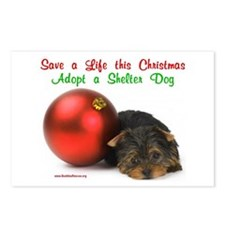 Christmas Puppy w/Ornament Postcards (Package of 8