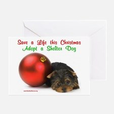 Christmas Puppy w/Ornament Greeting Card