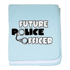 Future Police Officer baby blanket