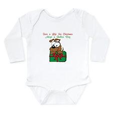 Christmas Puppy Long Sleeve Infant Bodysuit
