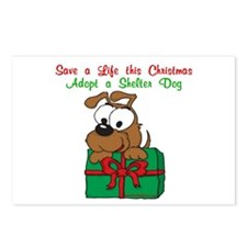 Christmas Puppy Postcards (Package of 8)