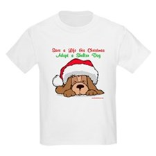 Puppy w/ Santa Hat T-Shirt