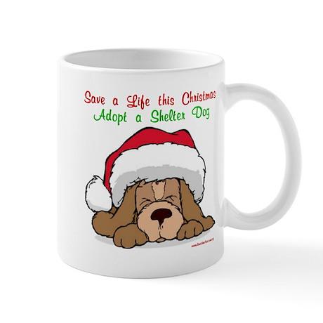 Puppy w/ Santa Hat Mug