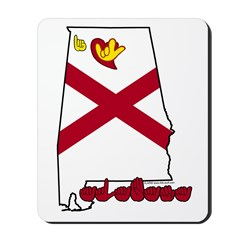 ILY Alabama Mousepad