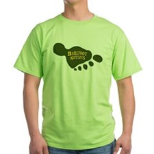 T-Shirt with foot logos on front and back.