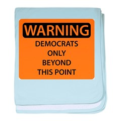 Democrats Only baby blanket