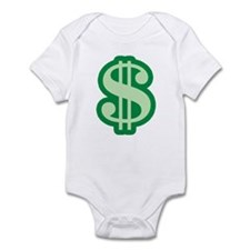 Dollar Sign Infant Creeper