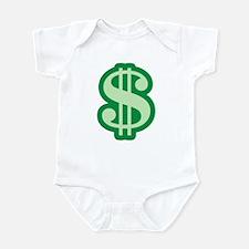 Dollar Sign Infant Creeper