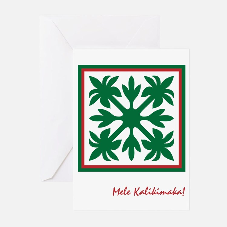 Hawaiian Christmas Card Template