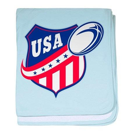 American rugby usa baby blanket